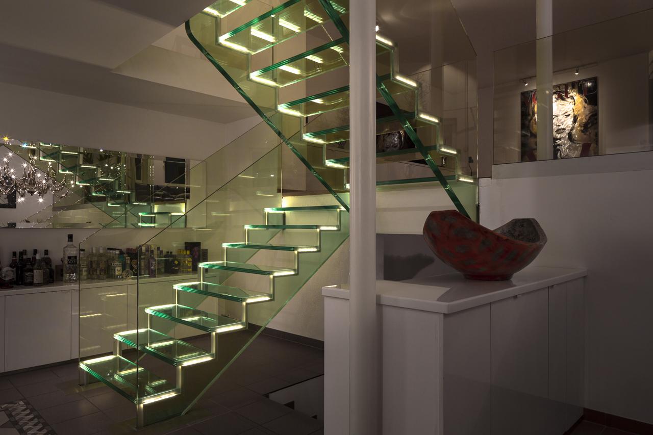 Scale Di Design Esclusive Scale In Vetro Scale Interne Moderne